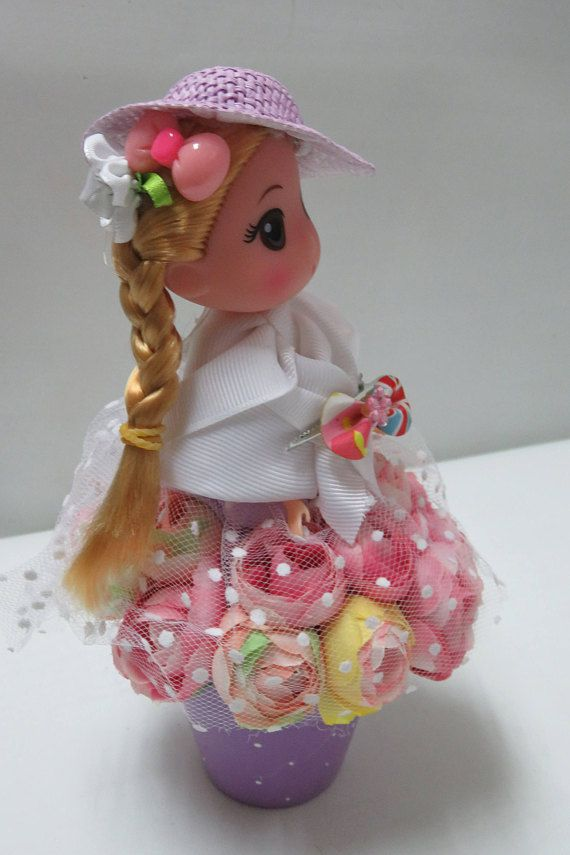 doll decor gift housewarming unusual unique dress flowers