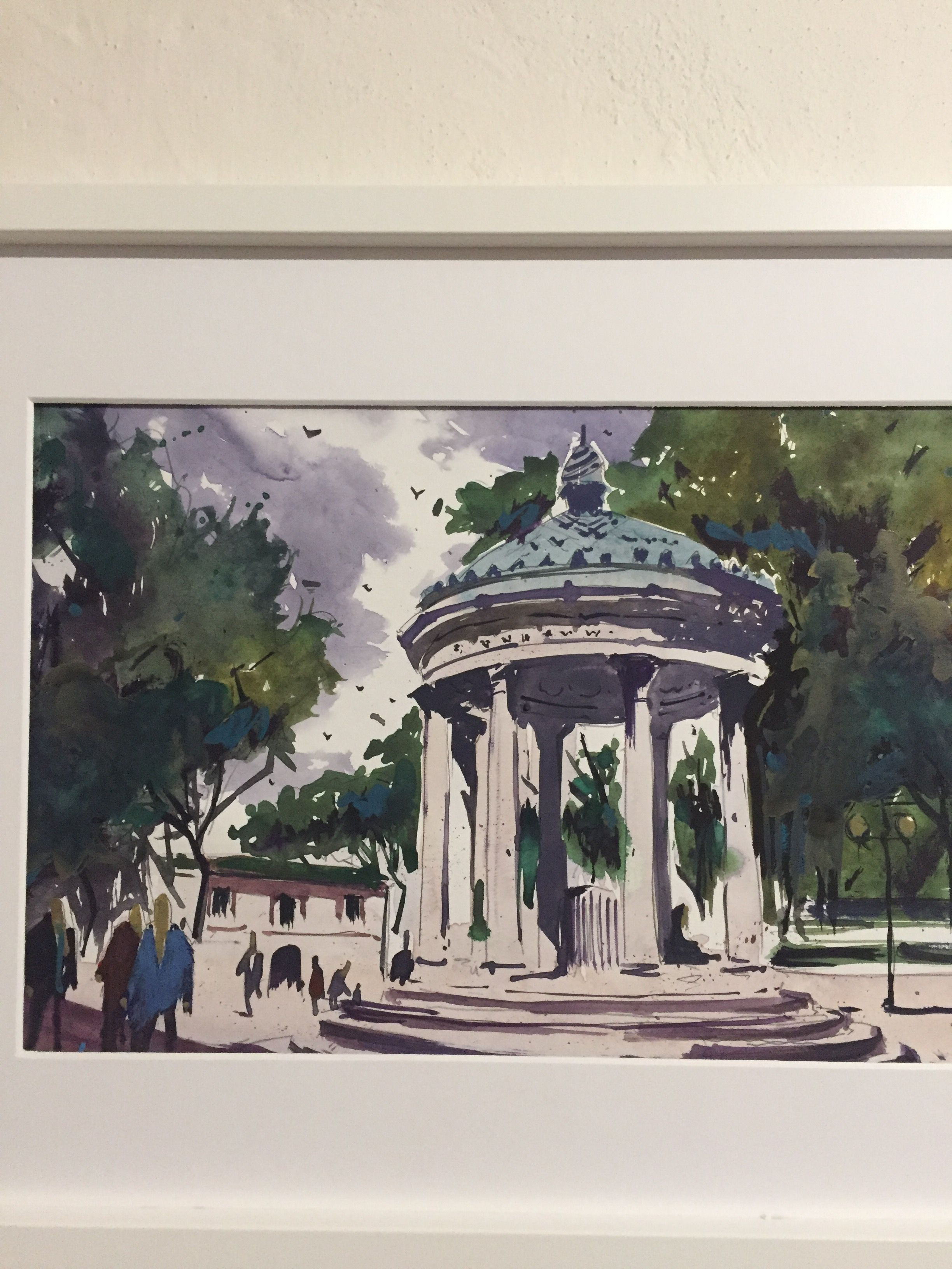 paint decoration watercolour aquarelle wall italy rome watercolor drawing painting art