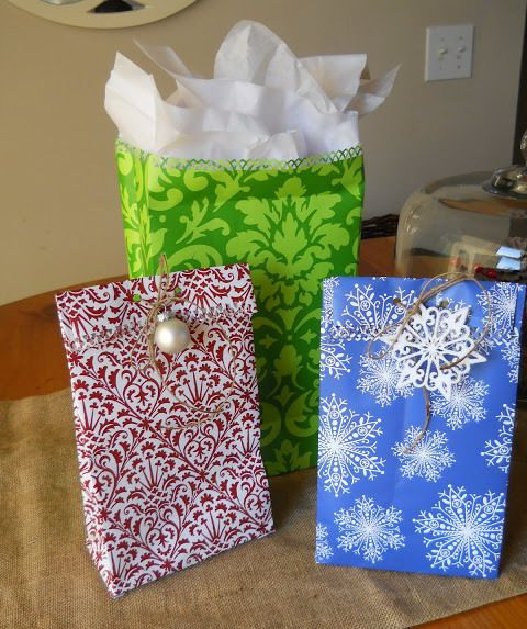make gift bag paper wrapping