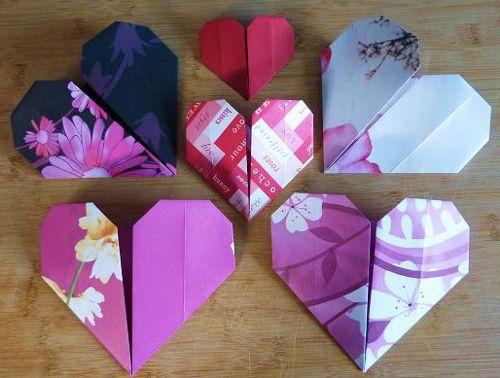 make heart souvenir paper crafts