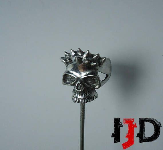 star ring jewelry gothic skull dark tribal wars pagan horned satanic vampire demon biker