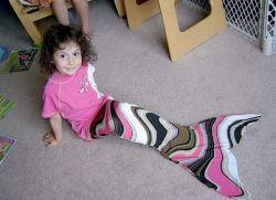 children tailoring make tail mermaid