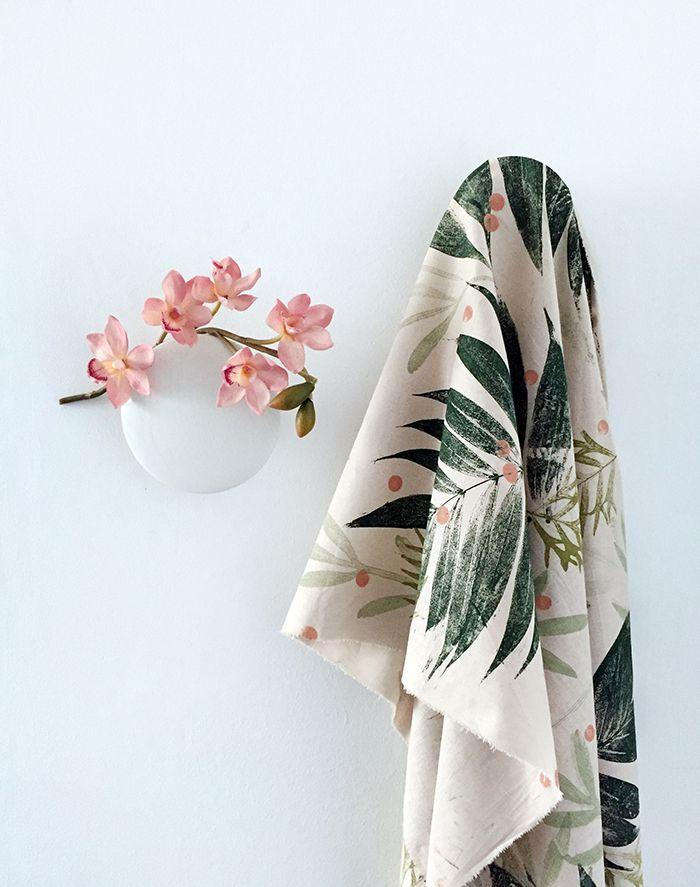 design pattern natural leaves diy