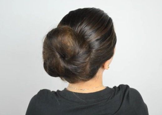 trendy with sock make bun