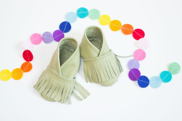 moccasins baby leather shoes tailoring