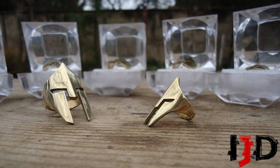 ring jewelry gold ornament helmet pagan statement medieval viking warrior spartan