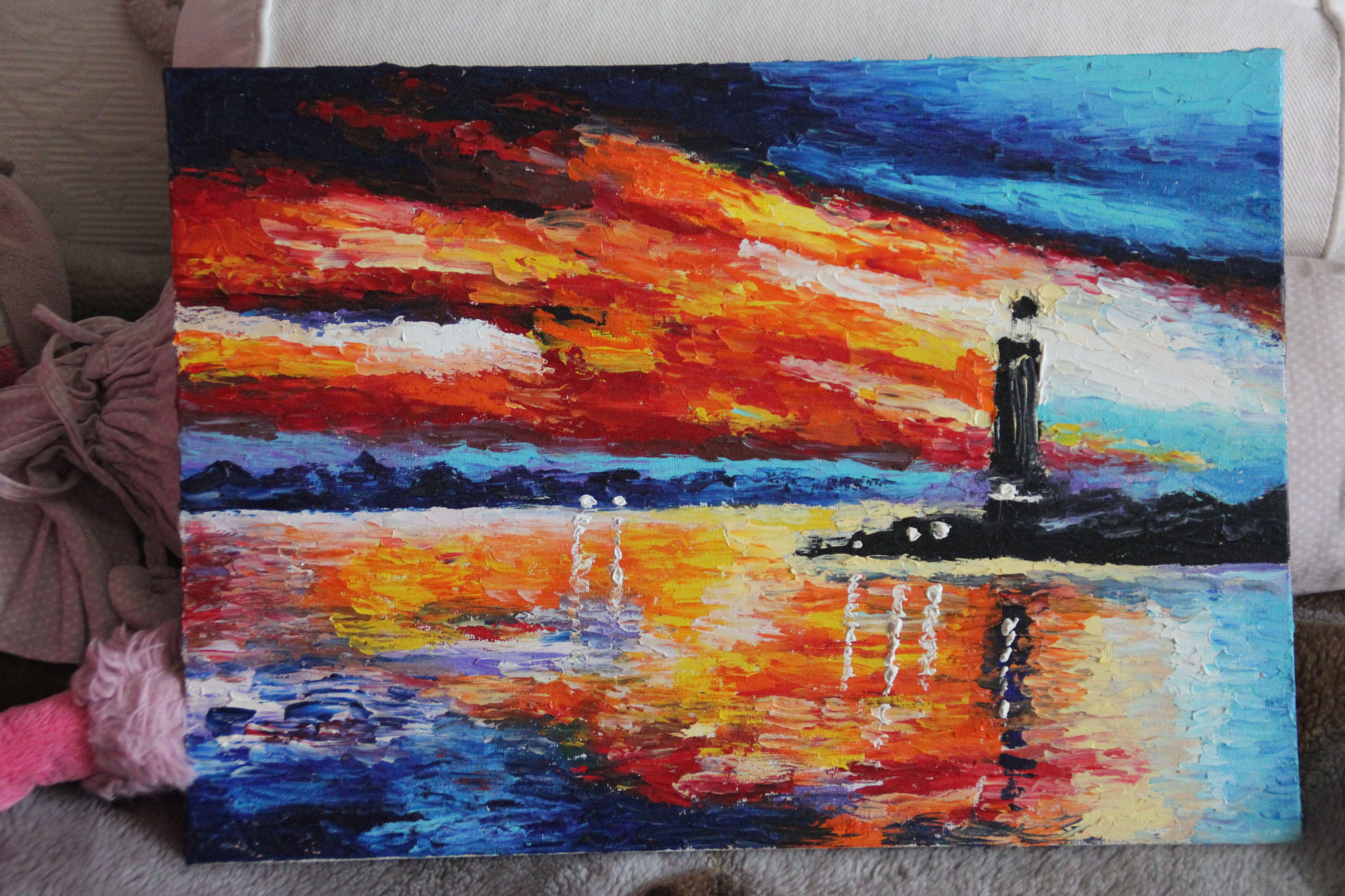 sea lighthouse oil landscape