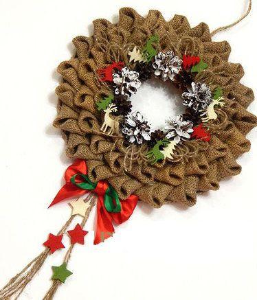 burlap wreath christmas make accessories