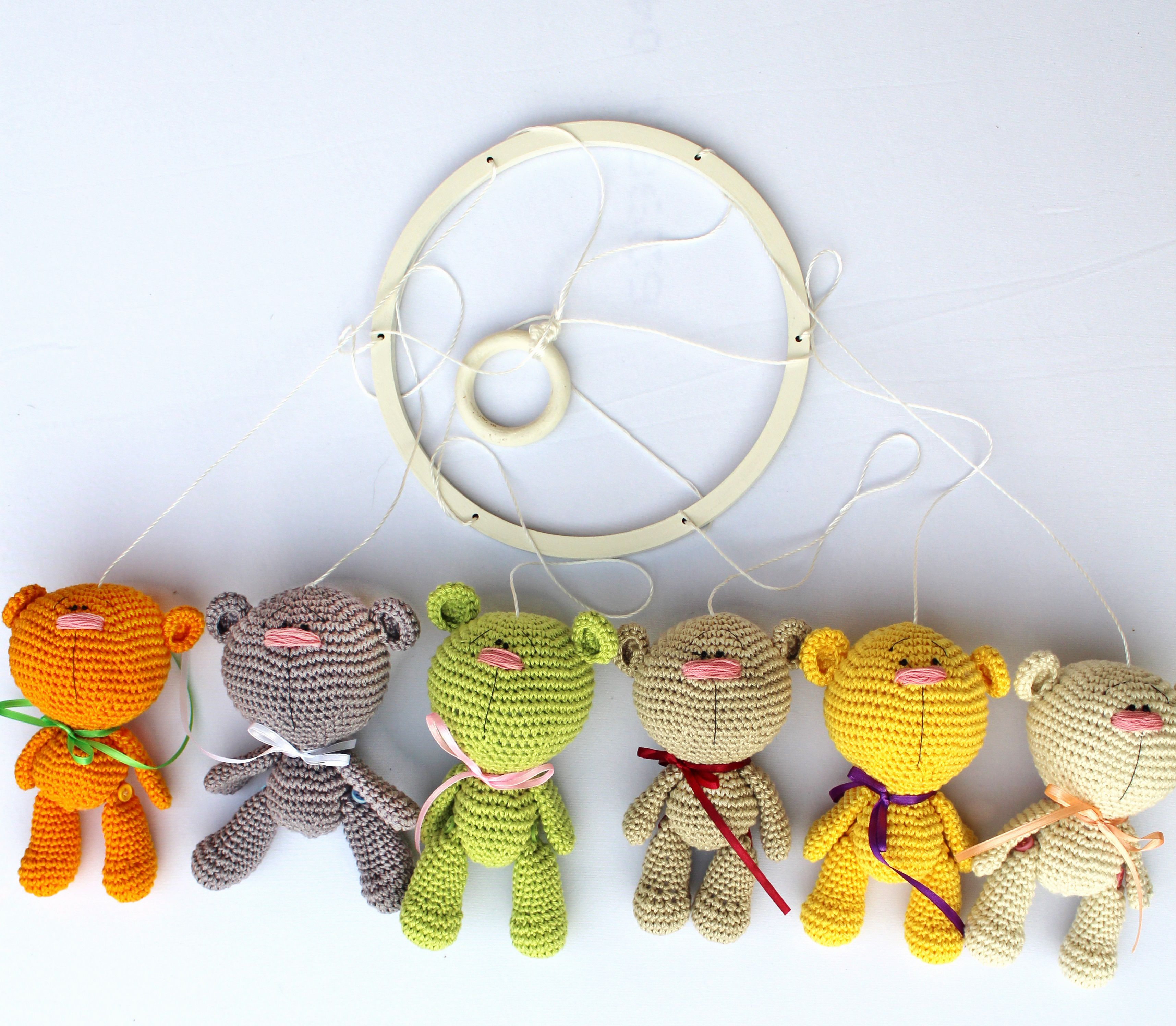 Baby Girl Decor Crib Crochet Home Teddy Living Boy Bear