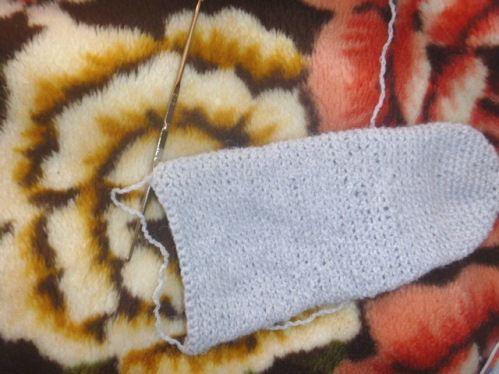 goods crochet socks textile steps