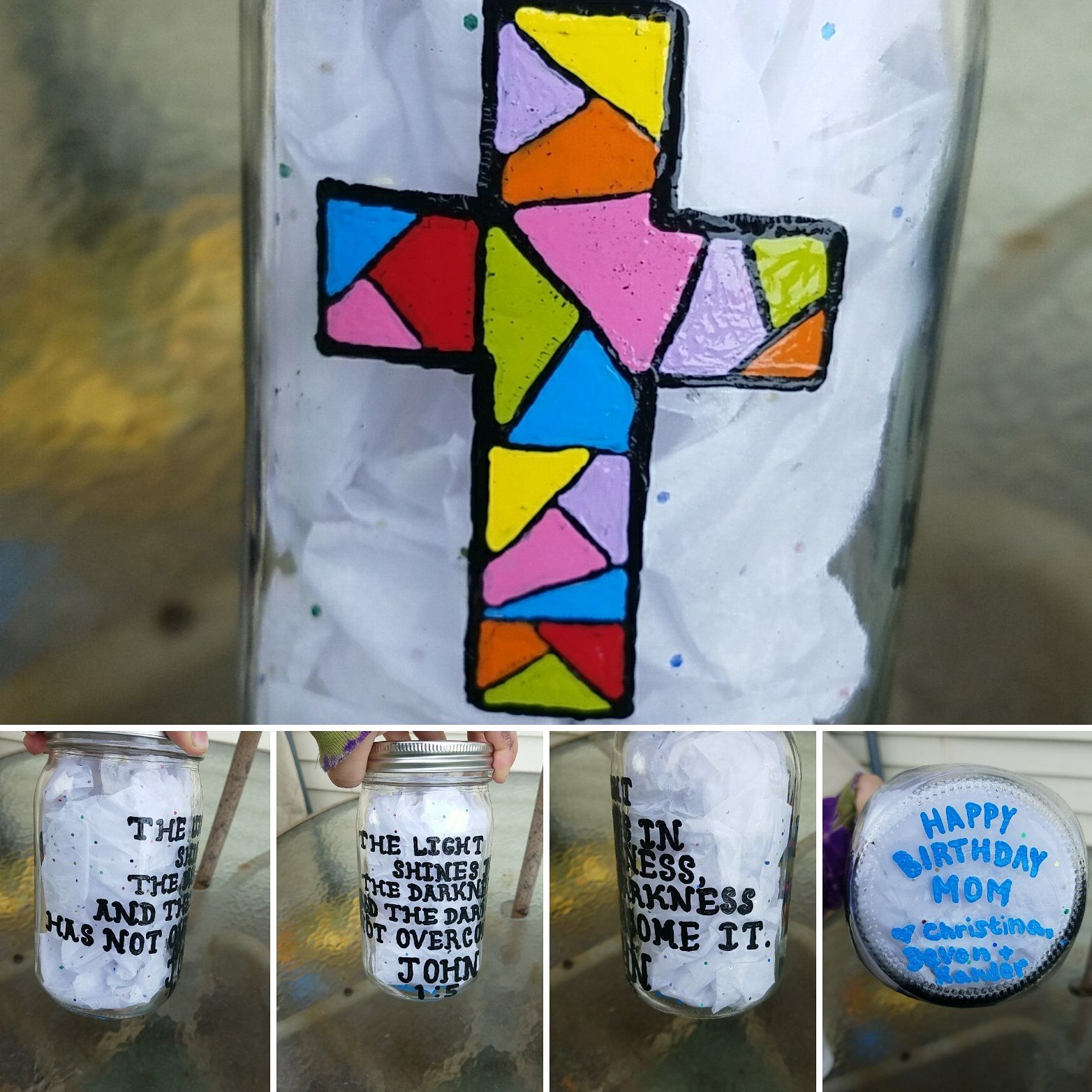candle storage handpainted candleholder custom jar handmade mason