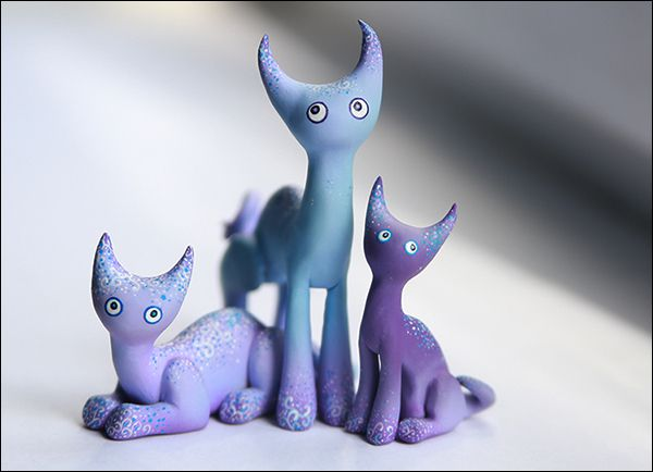 sculpey clay cats polymer plastic