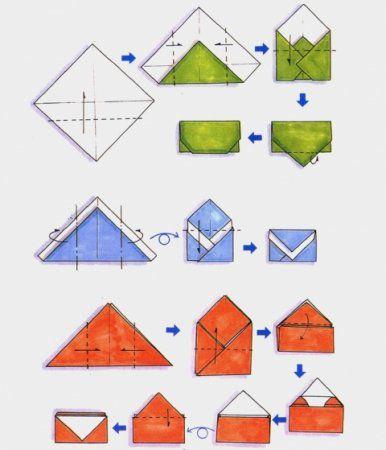 envelope fold postcard origami paper