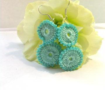 accessories goods crochet textile earrings