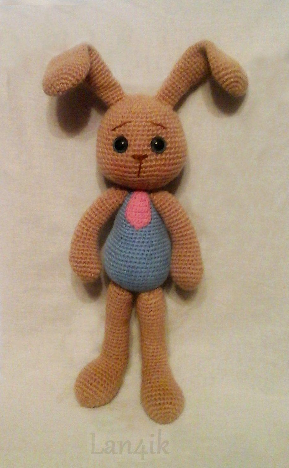 toy gift bunny kids knitting