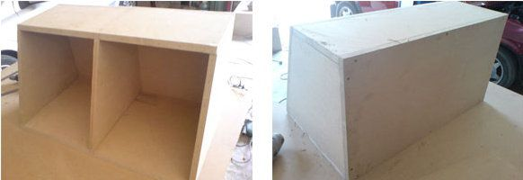 sound subwoofer box wooden make