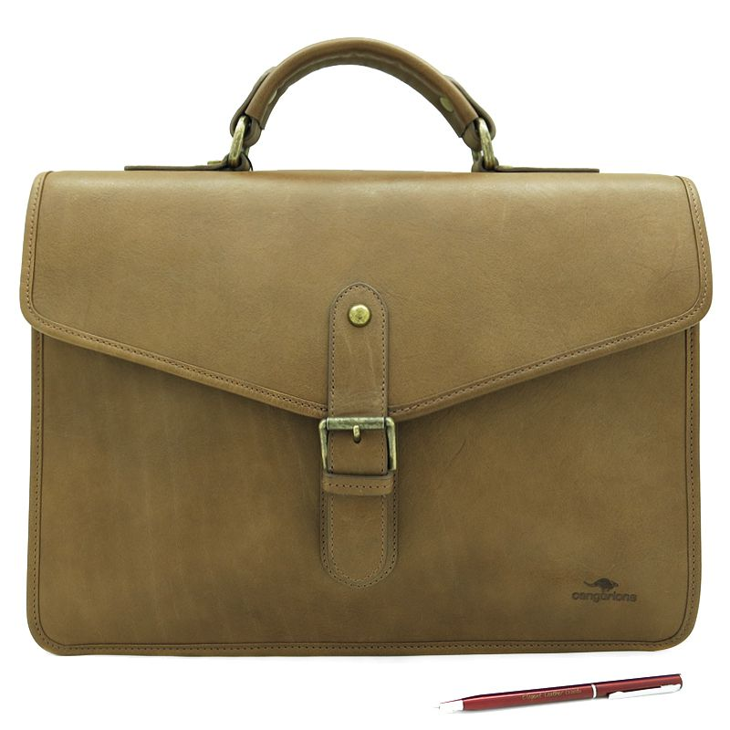 handmade leather accessories men briefcase