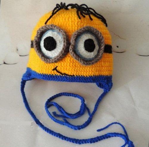 goods textile minion hat crochet