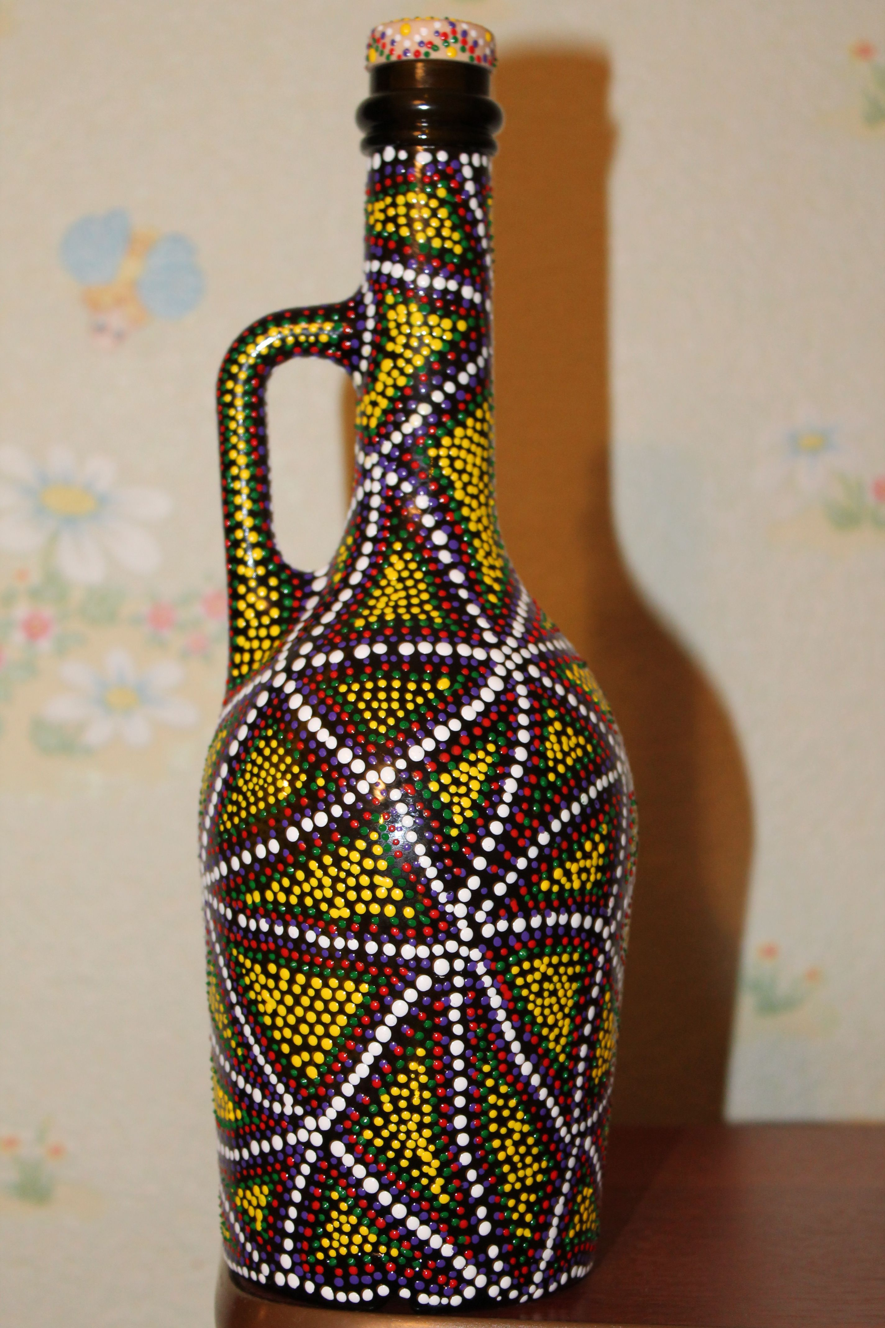 decoration interior dotpainting gifts handmade bottle