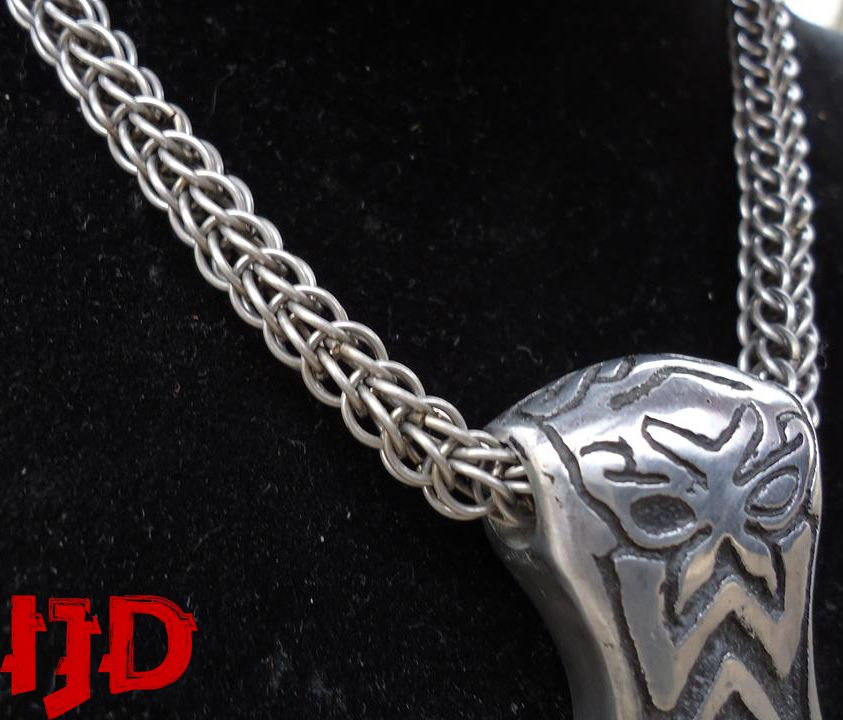 silver pendant necklace jewelry man gifts celtic pagan viking thor hammer odin