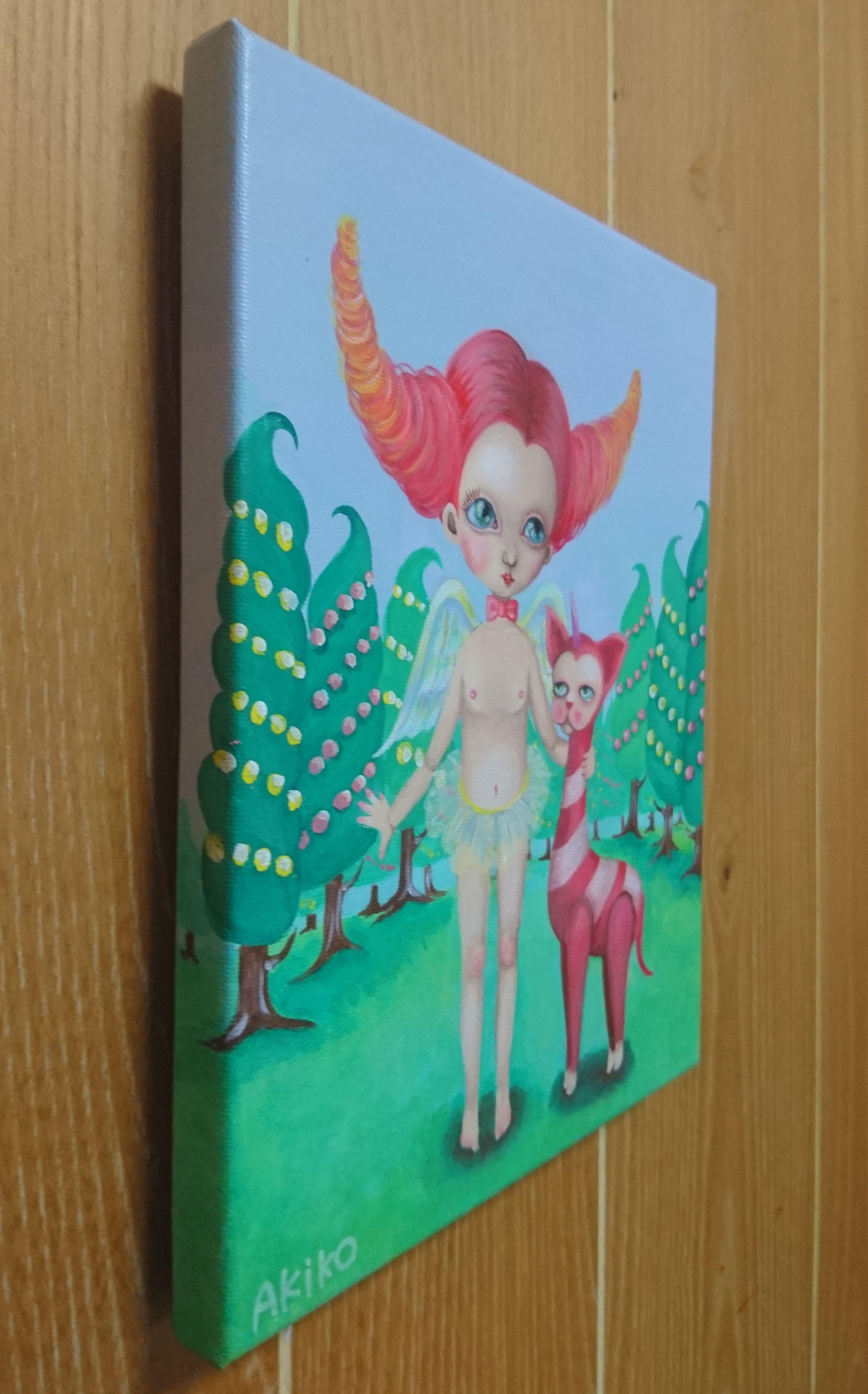 girl illustration pink cute monster angel popsurrealism