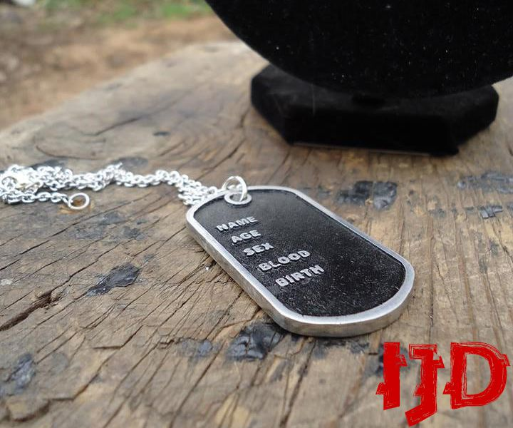 pendant dog men jewelry necklace silver solider tags tag for