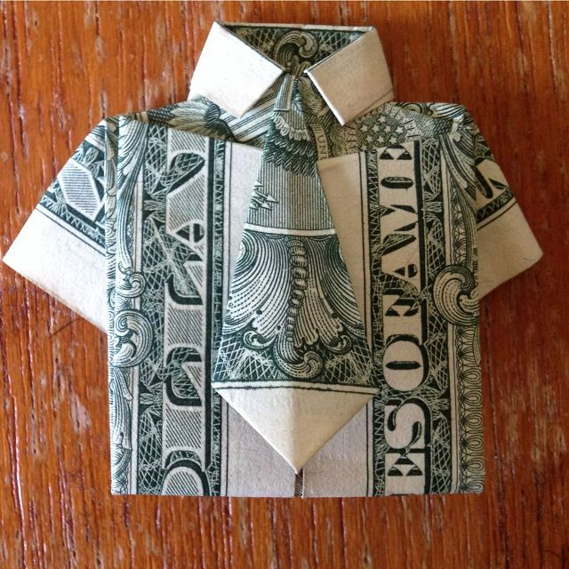 gift origami dollar bill money