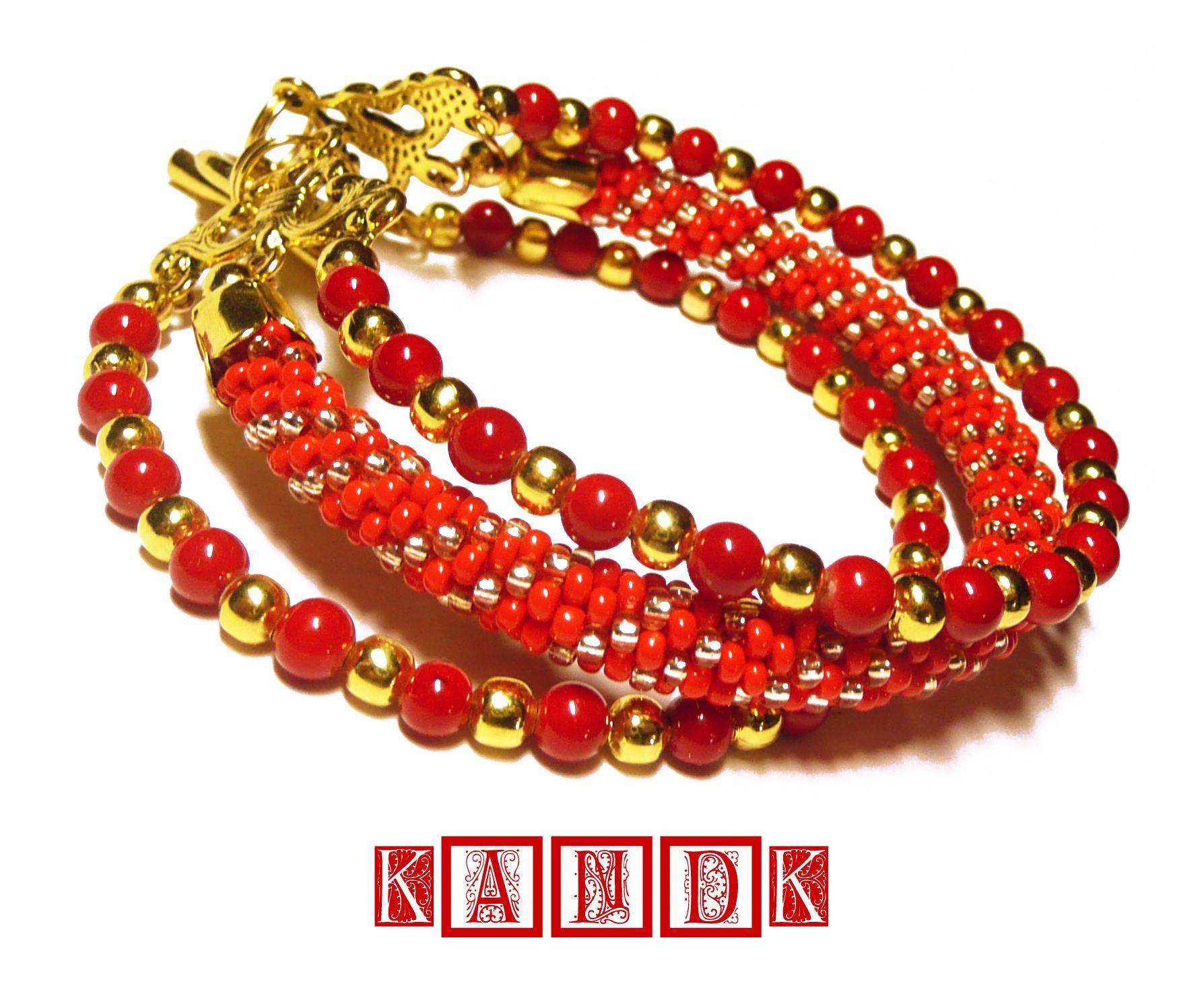 bracelet coral kandk cranberry