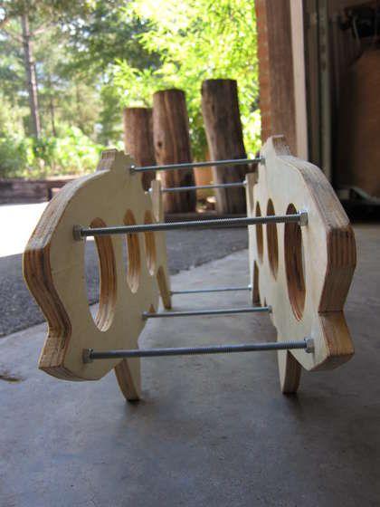 wine handicrafts material wood make rack