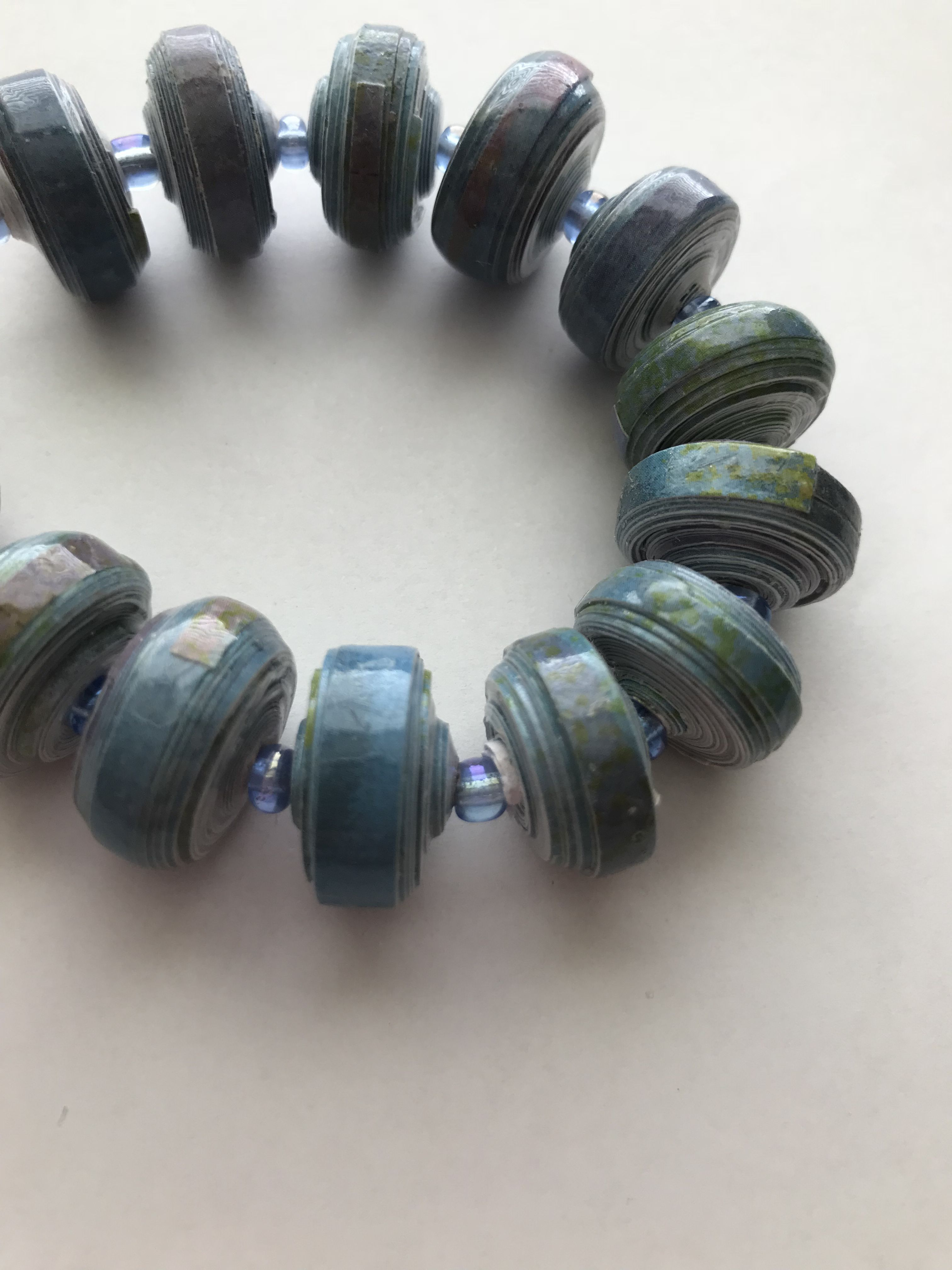 priced reasonable gree any unique paperbeads gift costume occasion blue jewelry handmade woman bracelet for