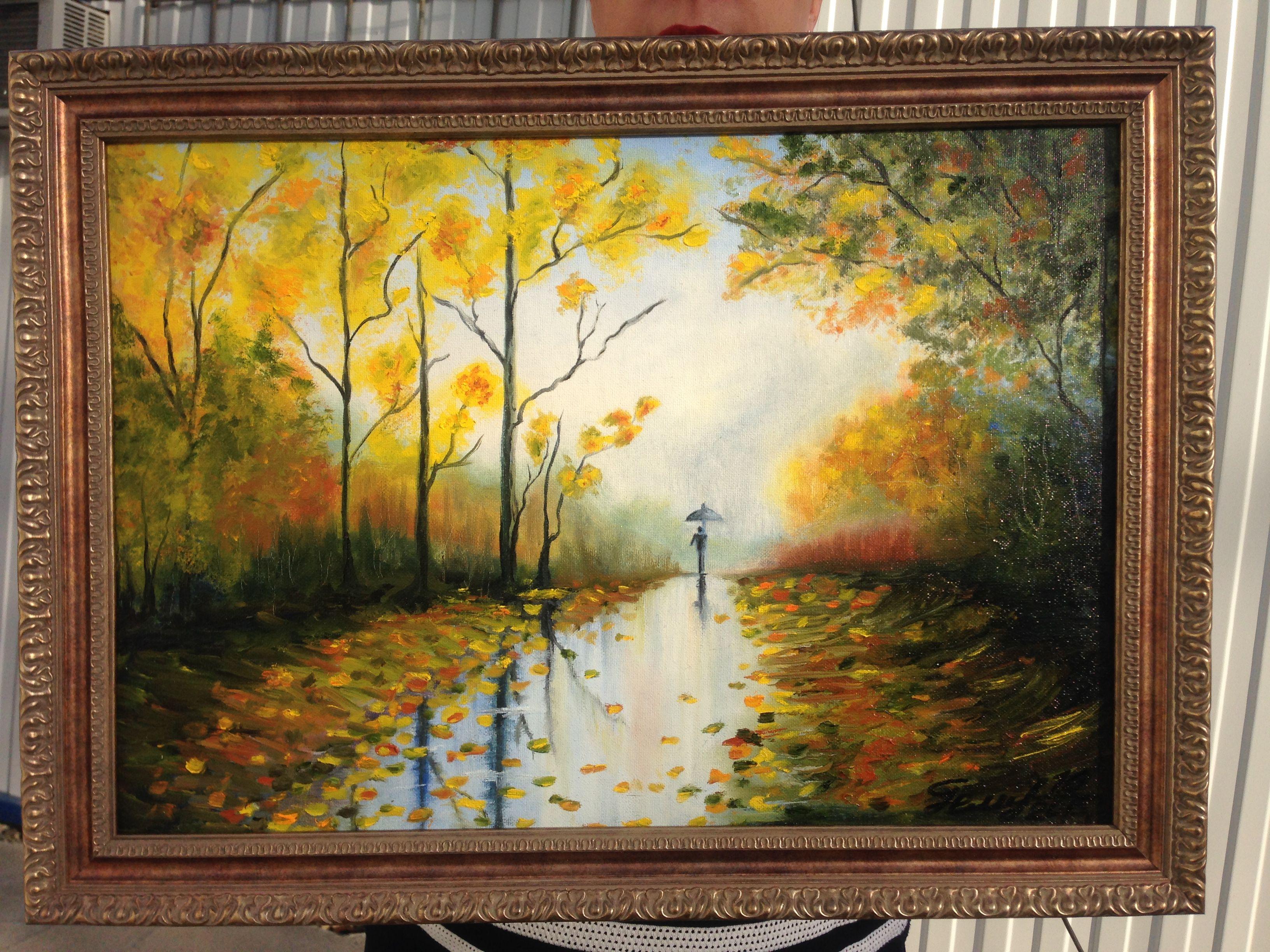 autumn interior picture painting art