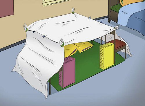sheets pillows blankets fort make