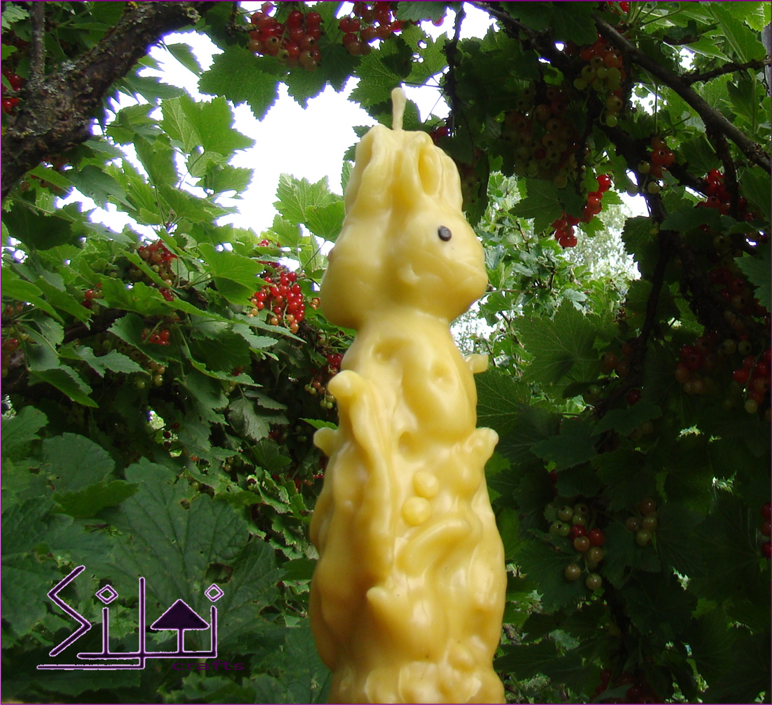 eastercandle bunny rabbit handsculpted rabbitcandle hare beeswax harecandle unusual easter unusualcandle beeswaxcandle sculpted forestcandle forest