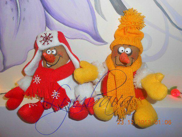 gift newyear snowmen