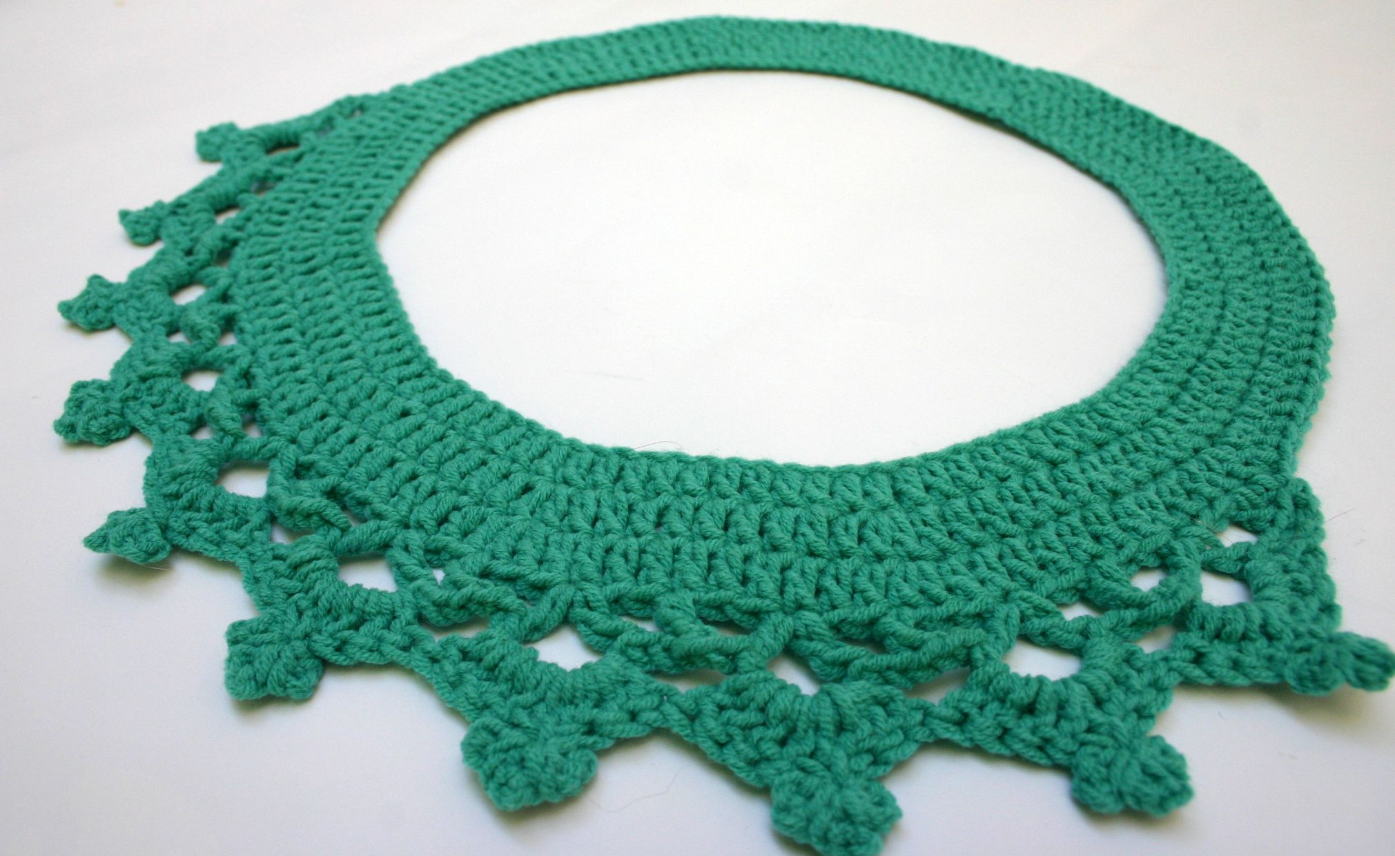 handmade boho collar vintage cotton necklace jewelry crochet accessory
