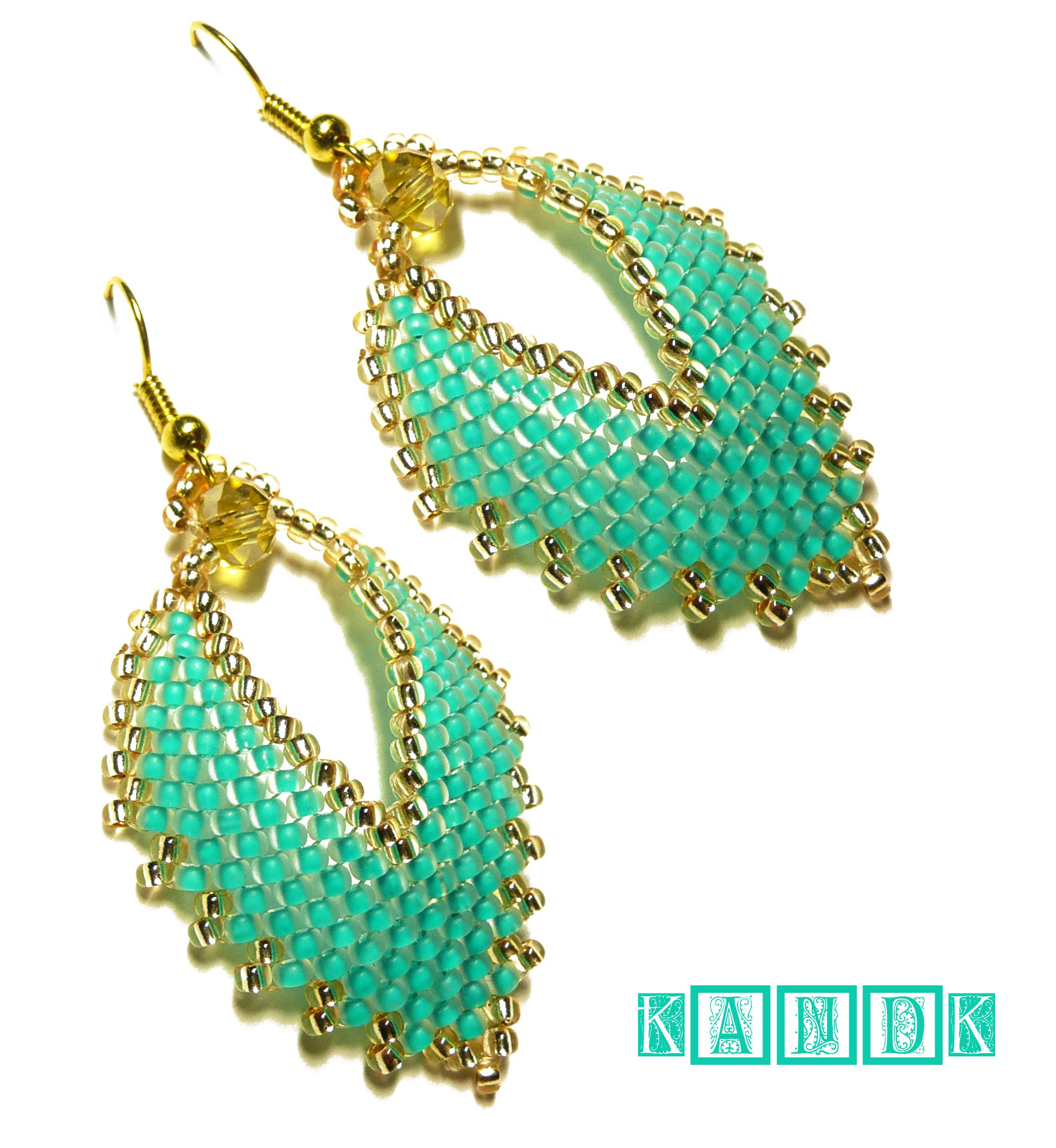 mint earrings kandk leaves