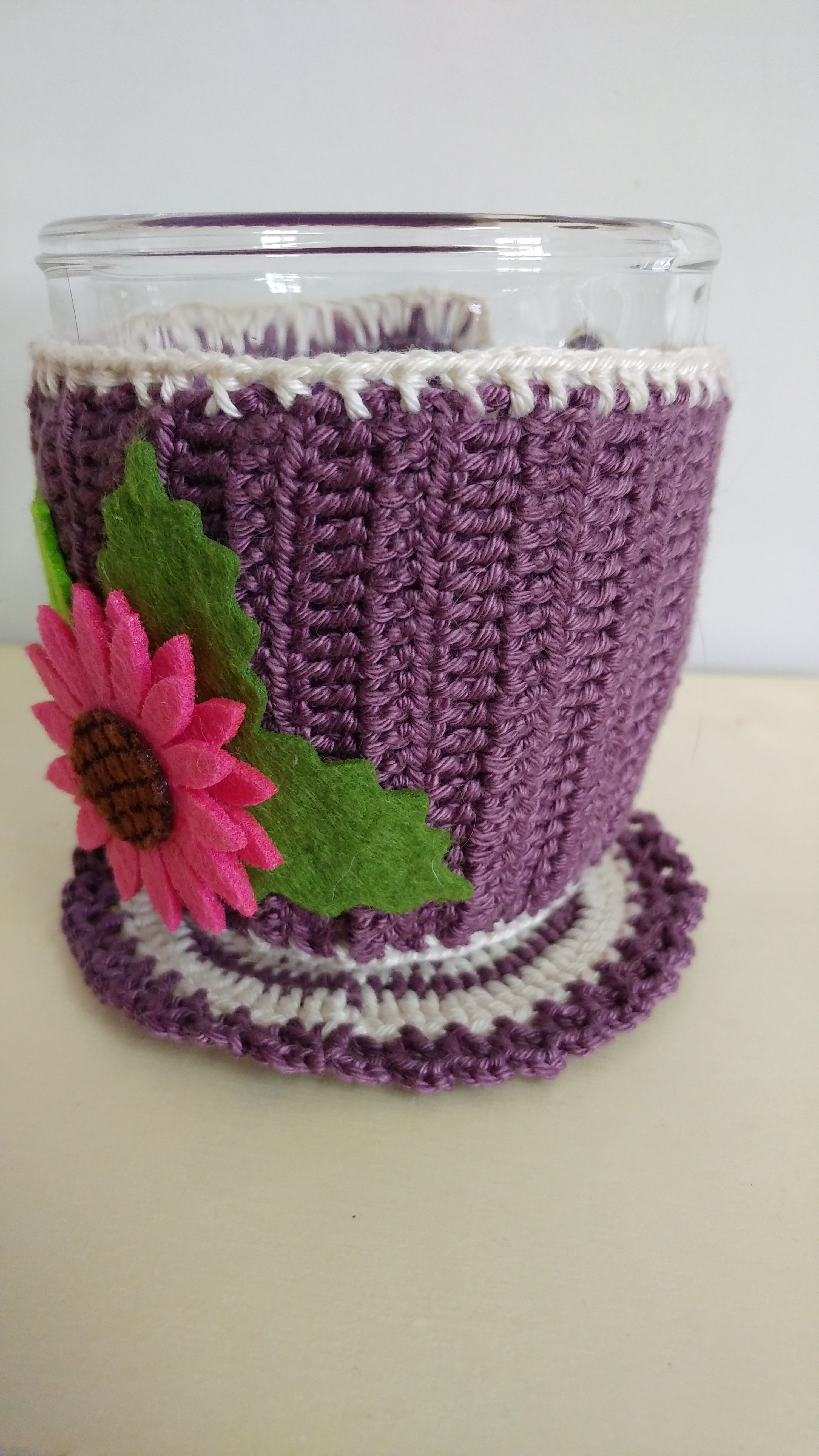 cover mug cozy sweater coaster crochet stocking hot christmas beverages