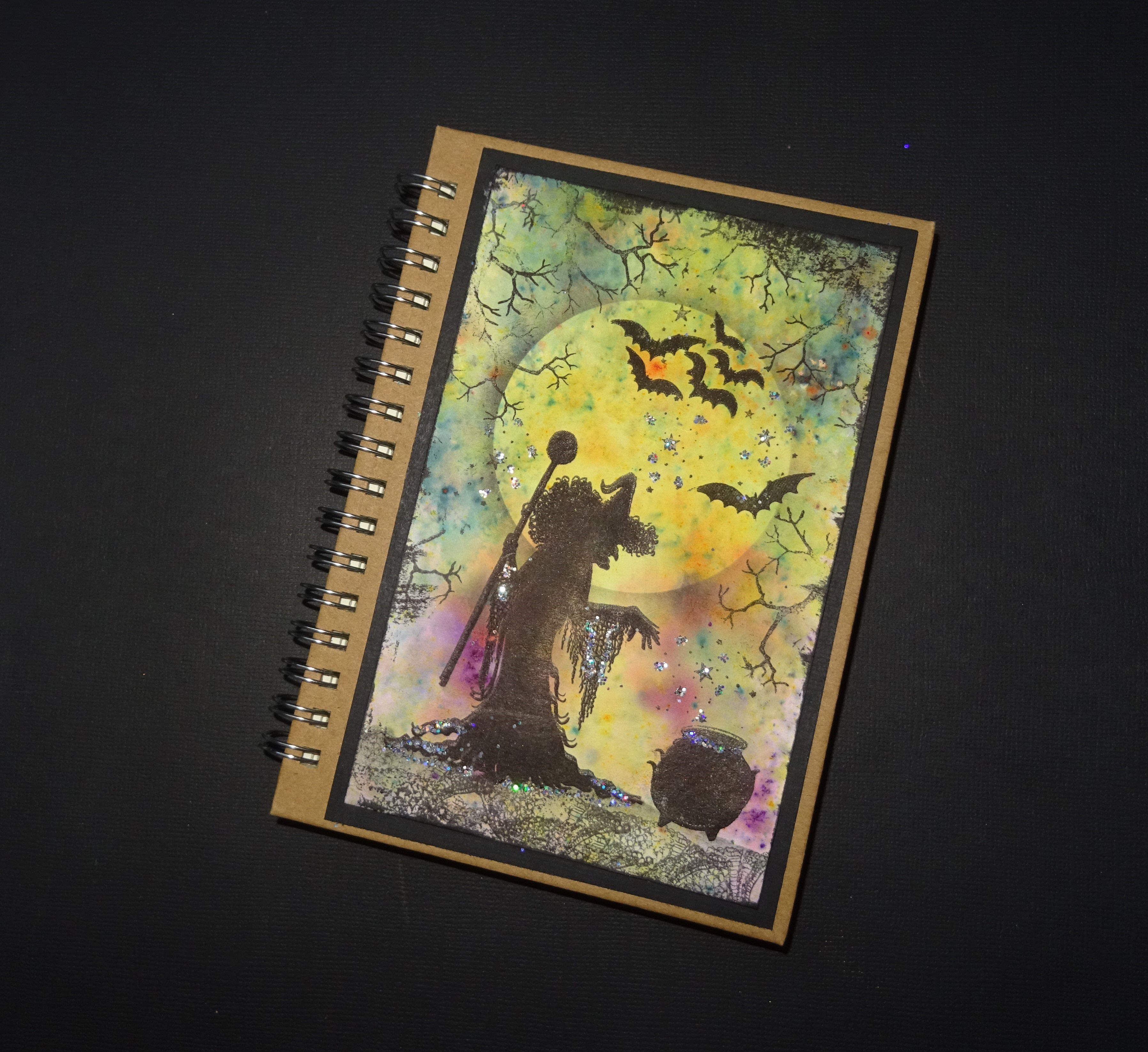 cover witch gift journal decorated halloween notebook book lined