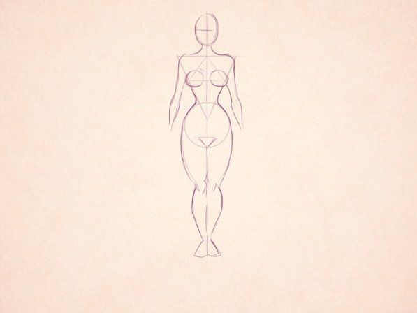 female body style draw cartoon art