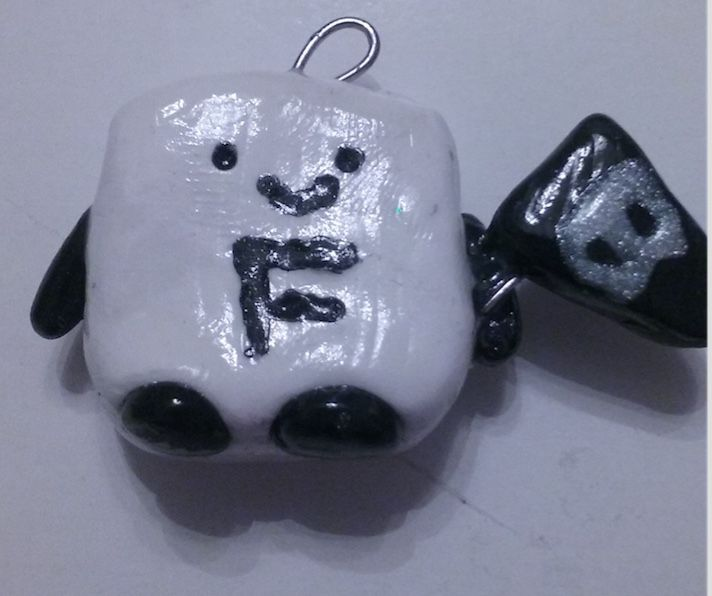 flag white charm creature cute black adorable polymerclay clay kawaii blackfriday