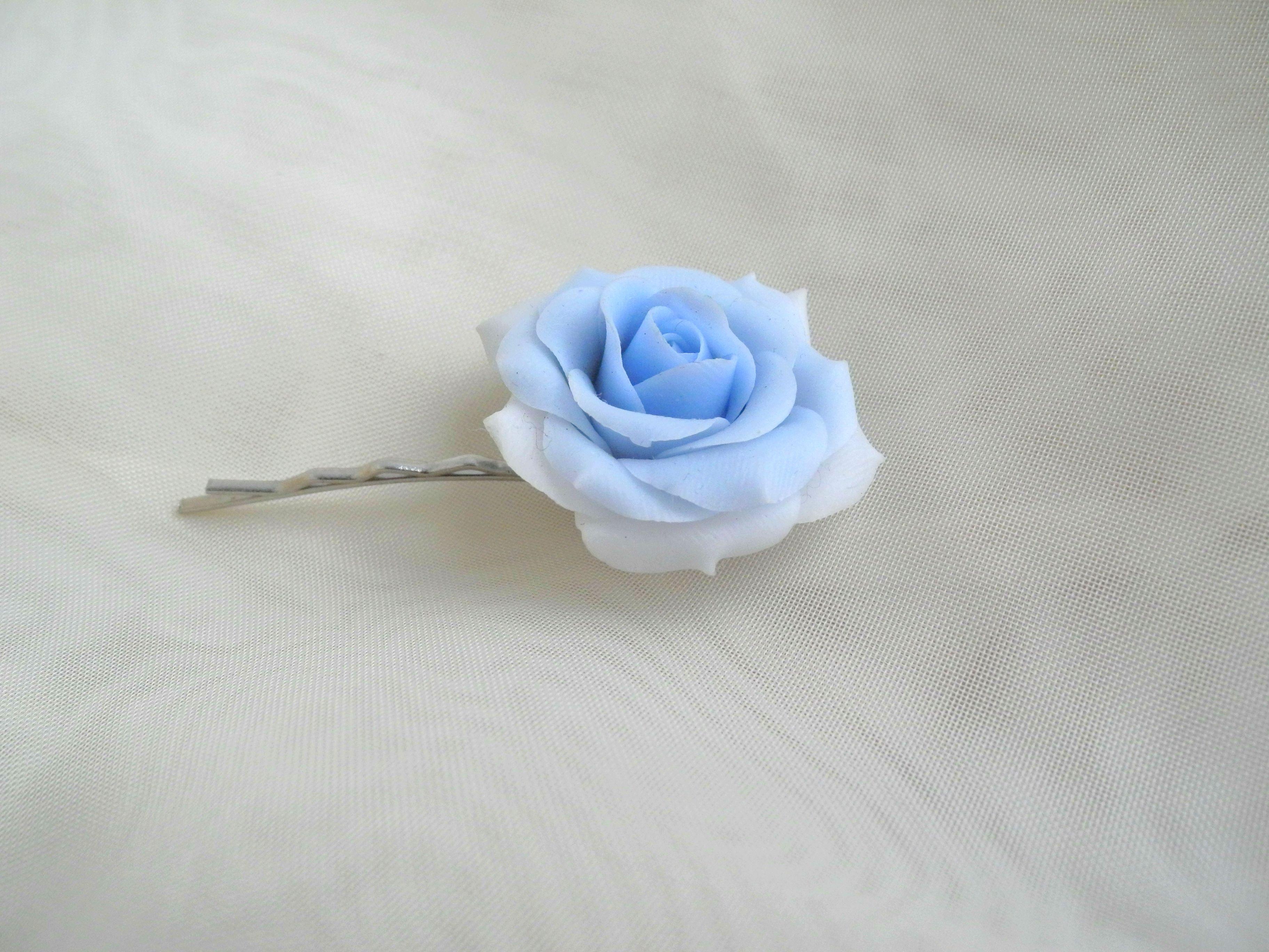 handmade handmadegift rose flowers hairpin bobbypin bijou coldporcelain ceramic