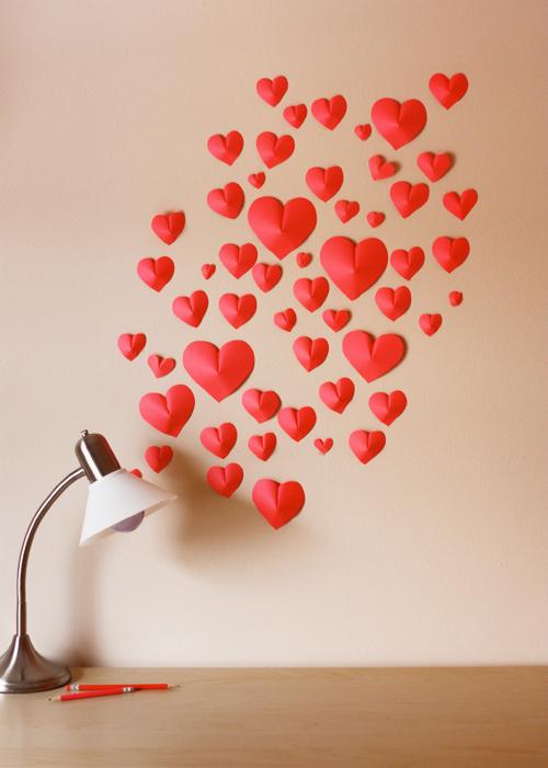 homedecor inspiration creativeidea loveisintheair paperhearts walldecoration love interior decoration diy