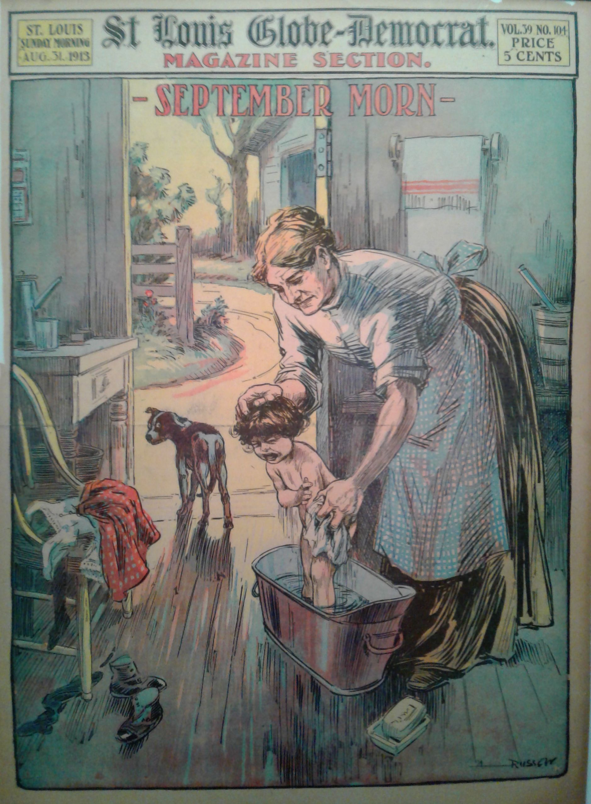 poster democrat vintage louis 1913 lyon merton harris russell newspaper globe