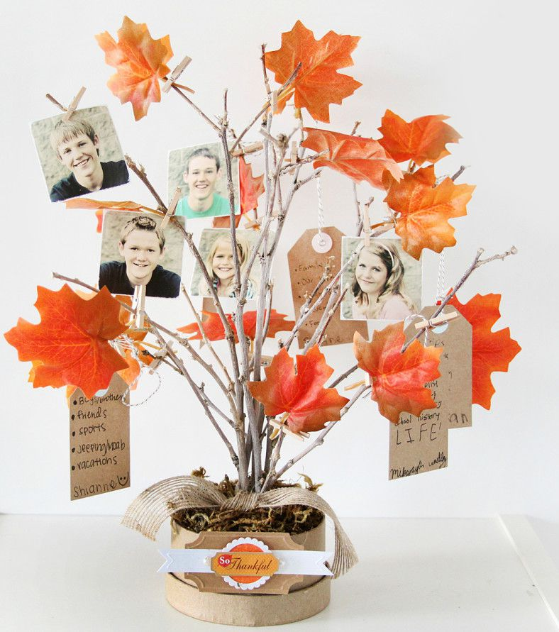 holiday decor gift plaster tree wood family thanksgiving