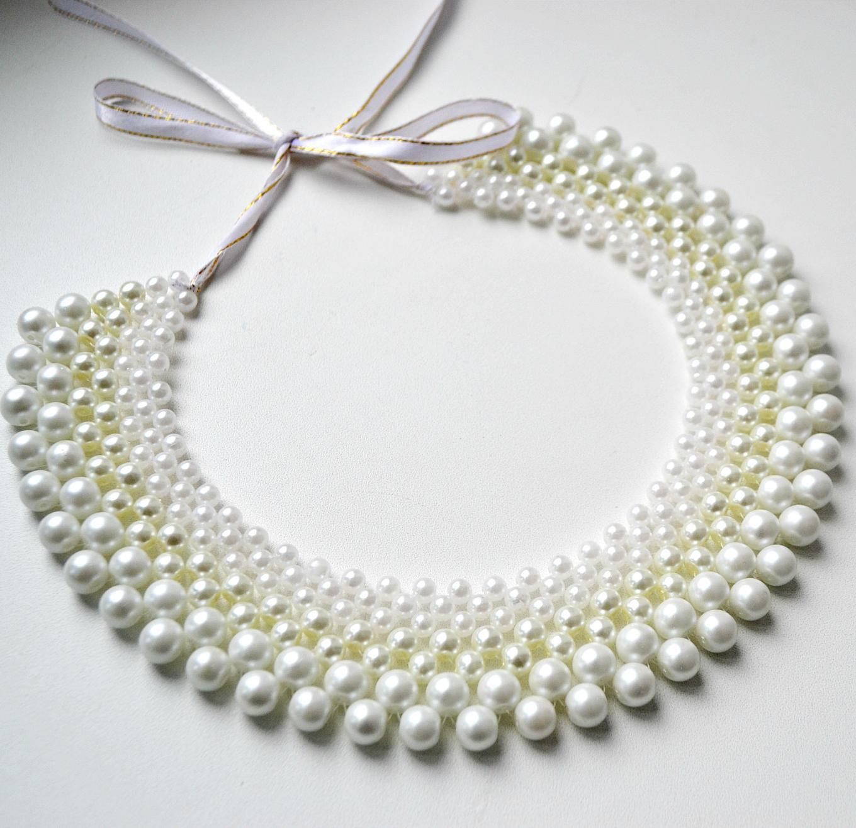 beautiful forgirls outfit diy collar accessory weaving jewelry handmade necklace beads masterclass
