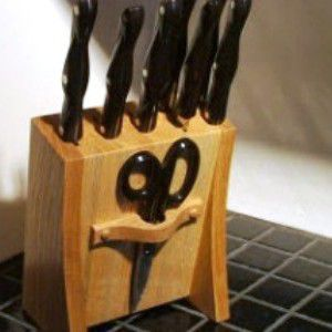 wooden handicrafts knife make rack