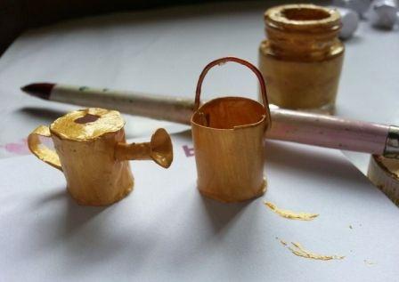 garden pot fairy miniature make flower