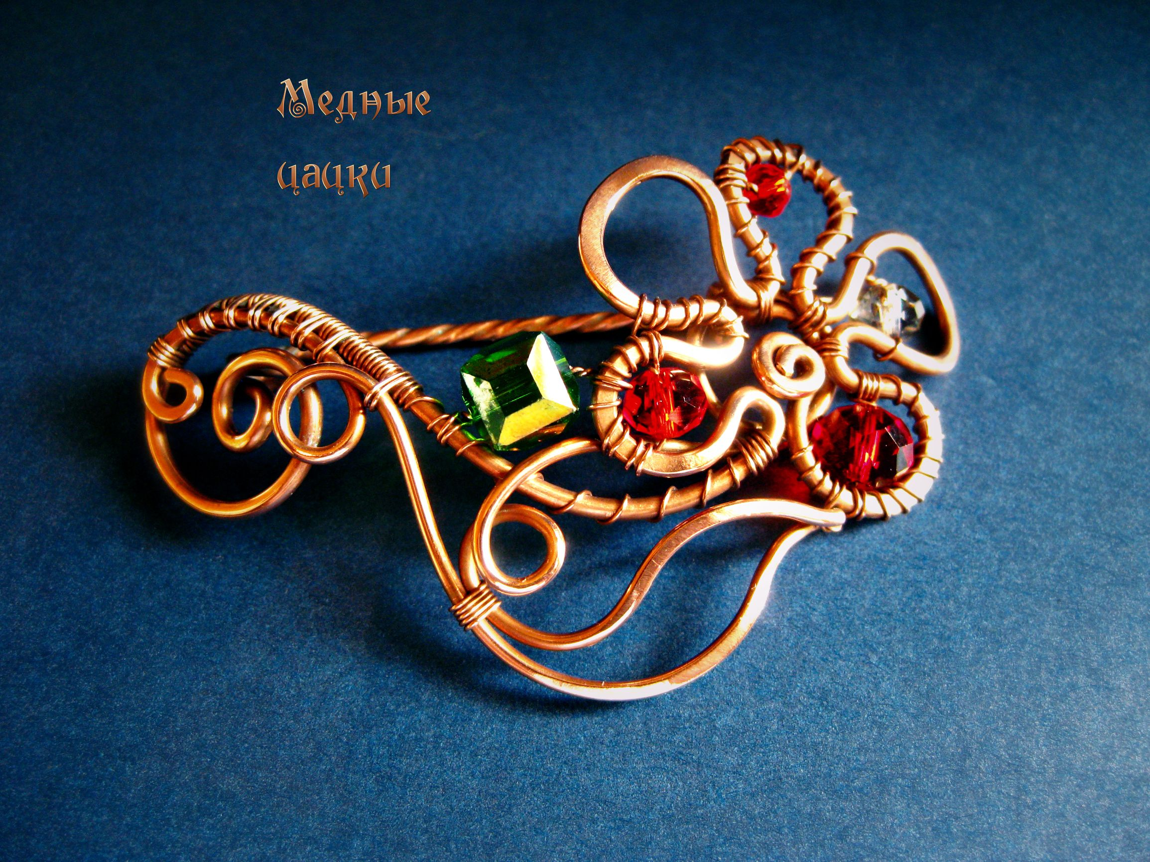 accessories flower brooch copper