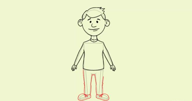 color person draw steps cartoon art
