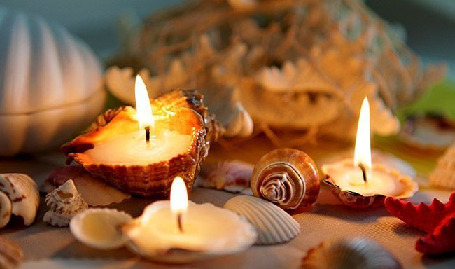 handmade decoration candles shells homedecor diy creativity creativeidea seashells seashellcandles homamade ideaforhome